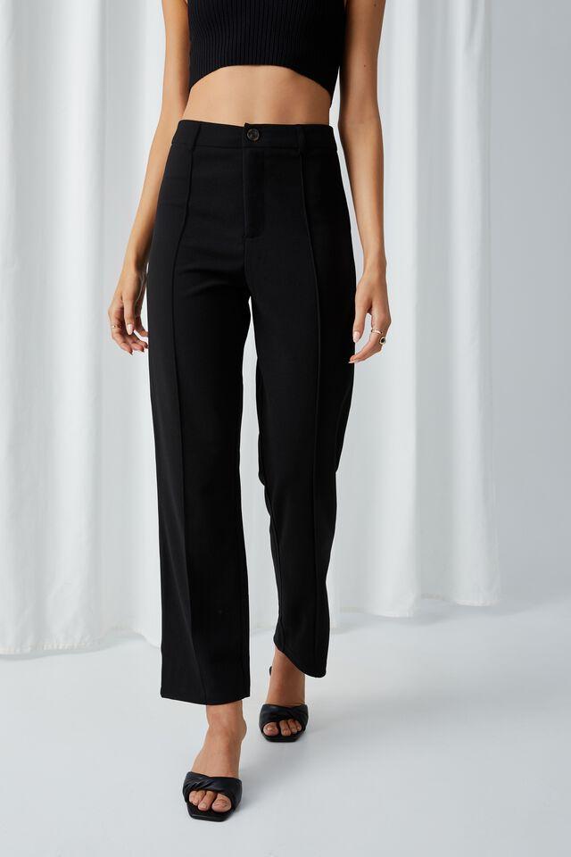 Kyla Straight Leg Pant, BLACK