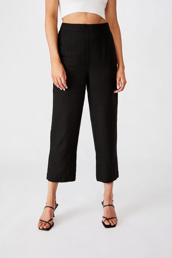 Parker Wide Leg Pant, BLACK