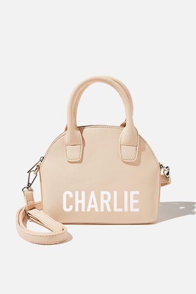 Personalised Jillian Crossbody Bag, SOFT STONE TEXTURE