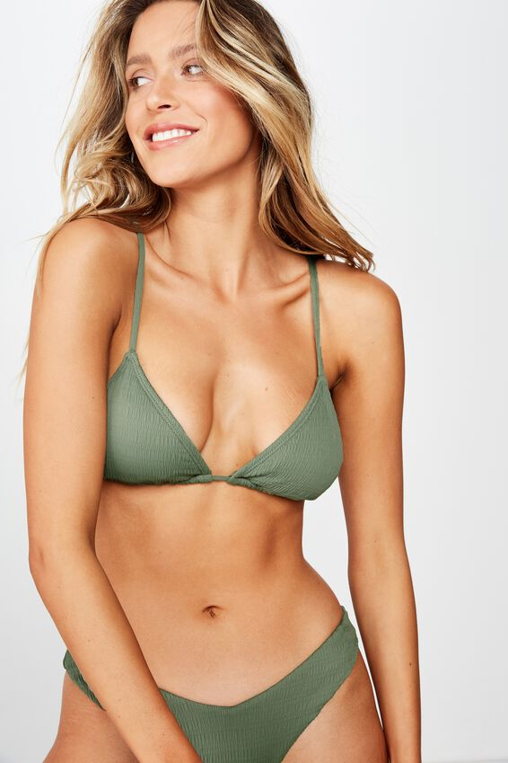 Bondi Slider Triangle Top, SUMMER KHAKI CRINKLE