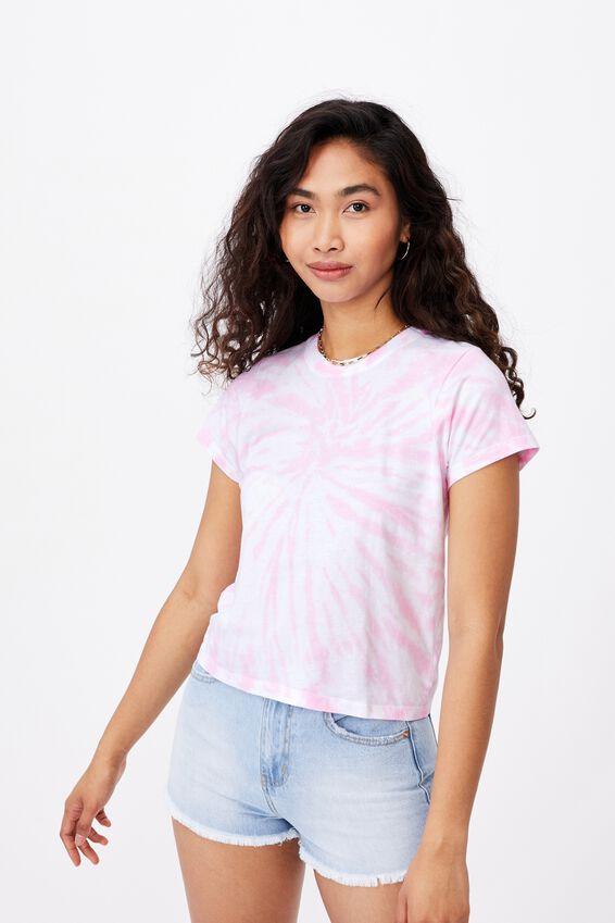 Classic T-Shirt, TIE DYE (WHT/TFFY.PNK)