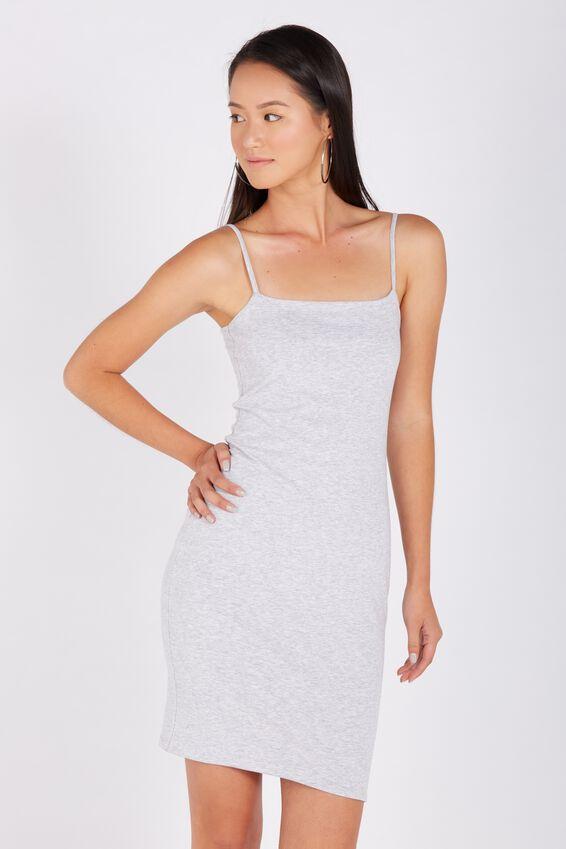 Basic Square Neck Cami Dress | Tuggl