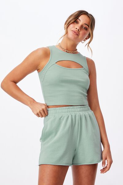 Naomi Sweat Short, MATCHA GREEN