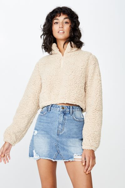Teddy Crop Jumper, FRAPPE