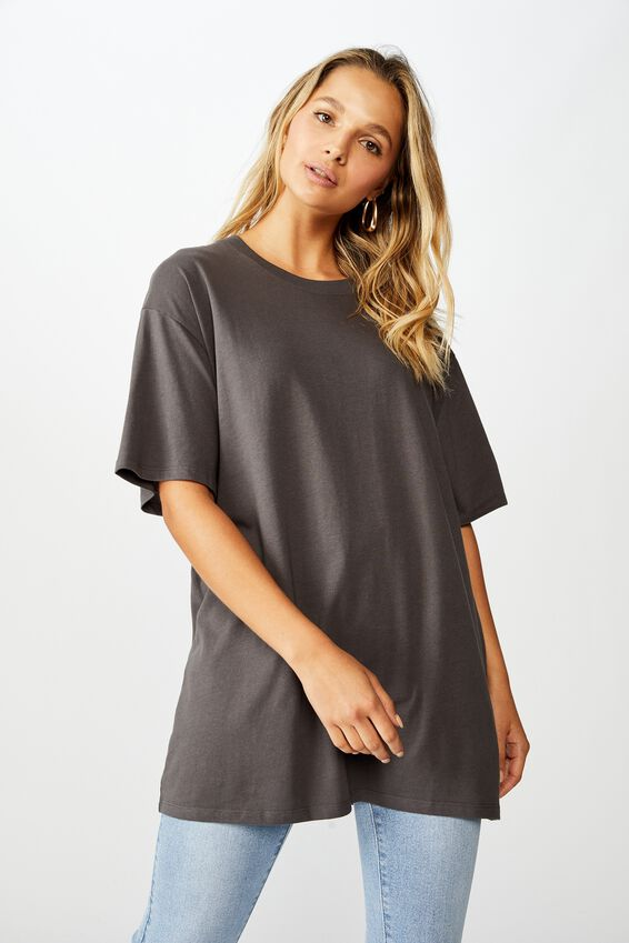 The Oversized Tee, GRANITE GREY