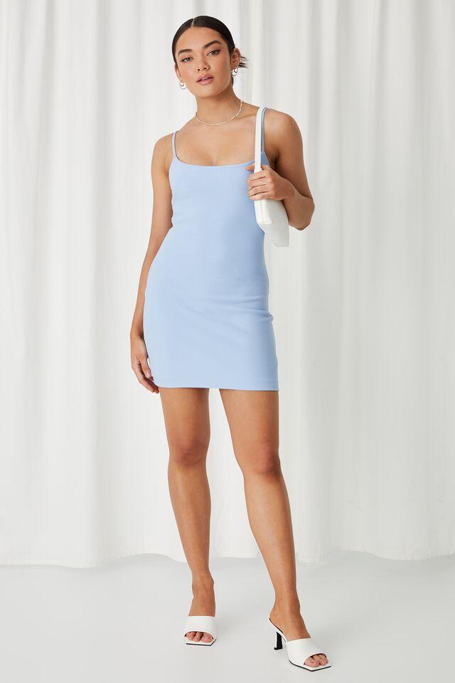 Piper Fitted Mini Dress, BLUE MOON