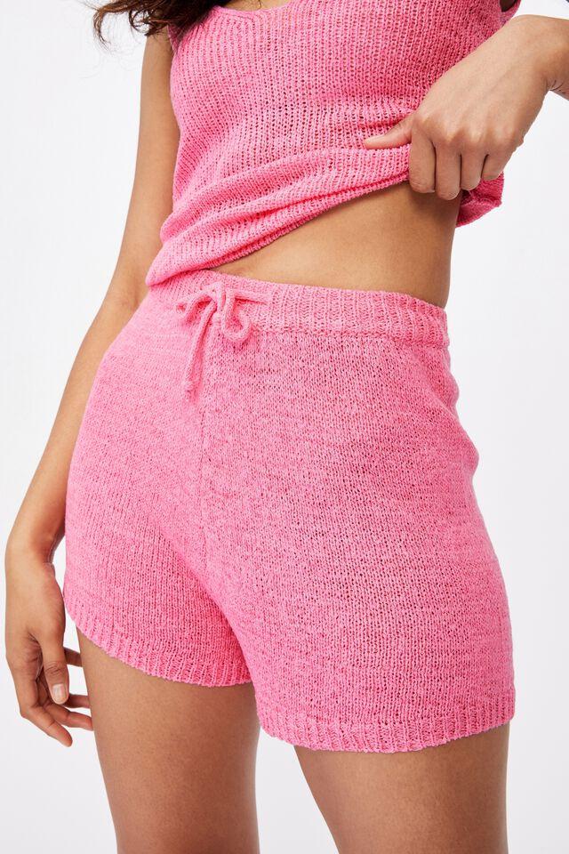 Lindsey Knit Short, PUNCH PINK