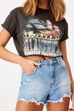 Tamara Printed Crop T Shirt, PHANTOM/ALL AMERICAN RACING