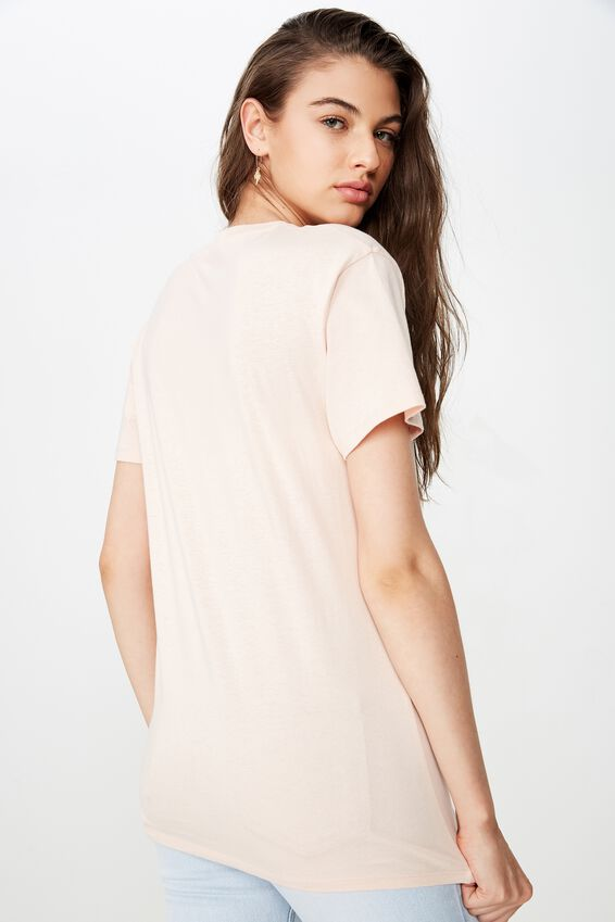 Lola Printed Longline Tee, PINK FLOSS/WEST COAST