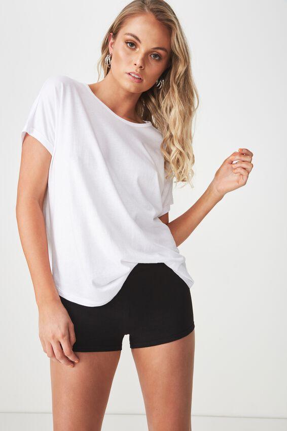 Fitted Mini Shorts, BLACK