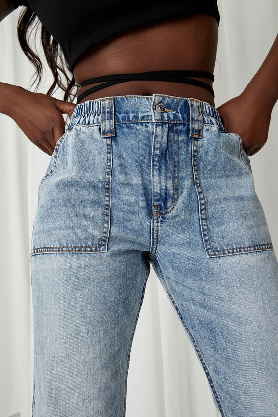 Jogger Jean, WASHED BLUE