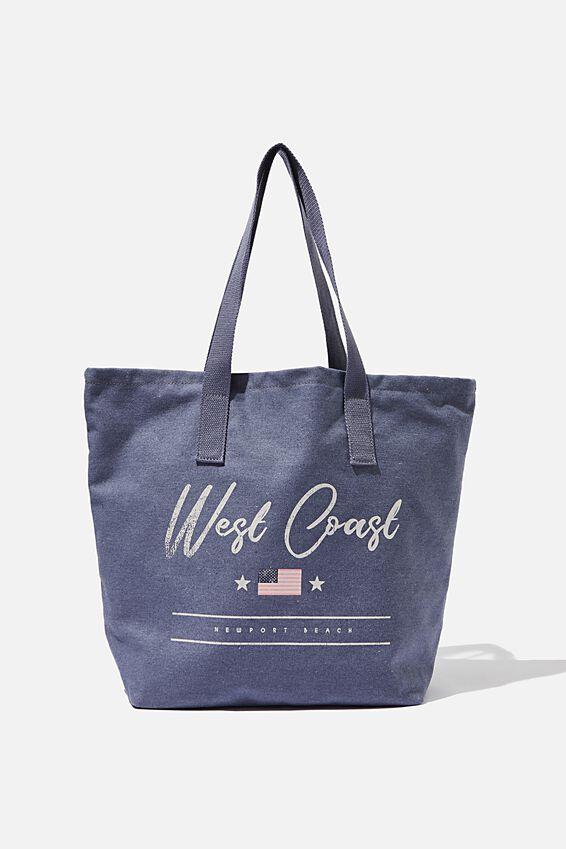 Canvas Tote Bag, BLUE WEST COAST