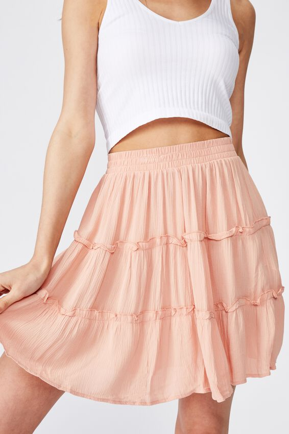 Tully Tiered Skirt, VINTAGE PEACH