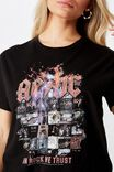 ACDC Albums Tee, BLACK/LCN PER IN ROCK WE TRUST