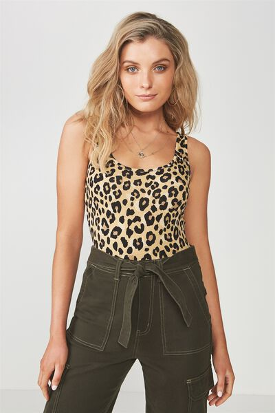 Graphic Bodysuit, LEOPARD