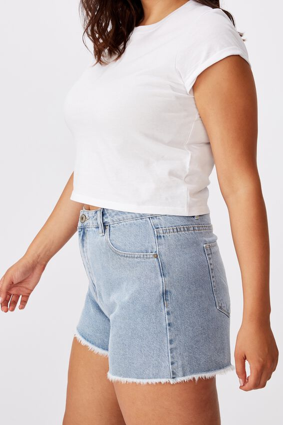 Venice Mom Denim Short, OCEAN BLUE