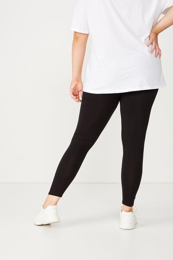 Basic Full Length Leggings, BLACK