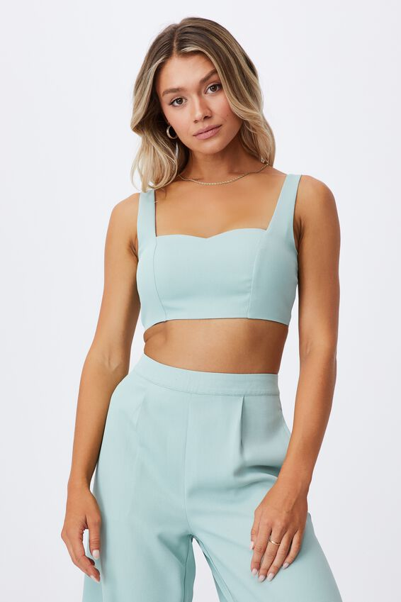 Phoebe Crop Top, SOFT MOSS