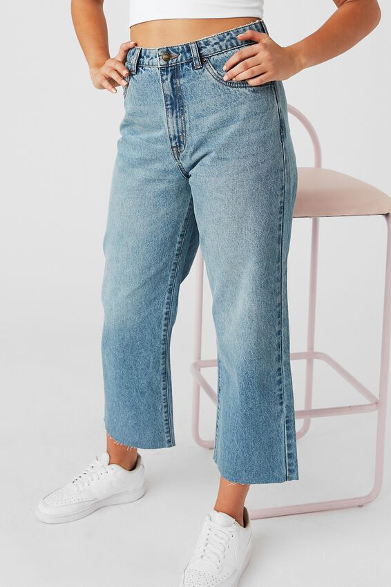 Wide Leg Jean, MIAMI BLUE