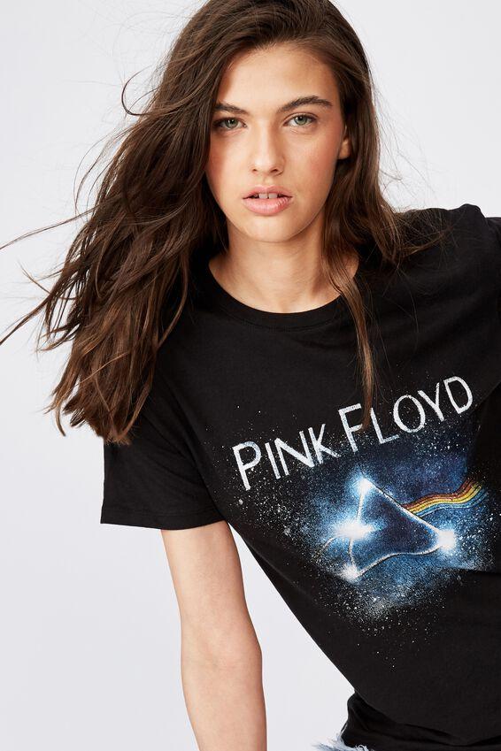 Kendall Printed T Shirt, BLACK PINK FLOYD