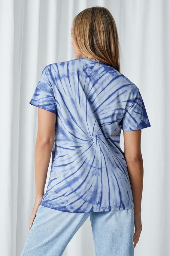 Lola Printed Longline T Shirt, TIE DYE (ARGO BL/CBLT NVY)/HORSES
