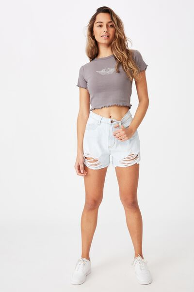 Venice Mom Denim Short, SUNSHINE BLEACH