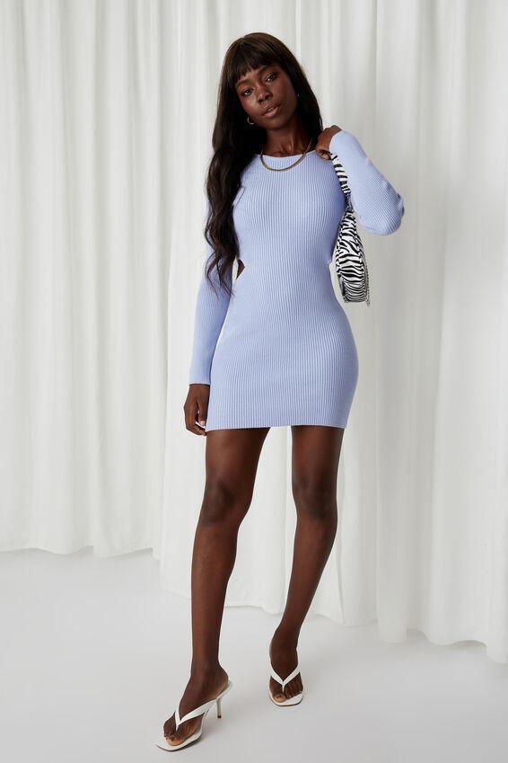 Raven Cutout Mini Dress, AURA BLUE