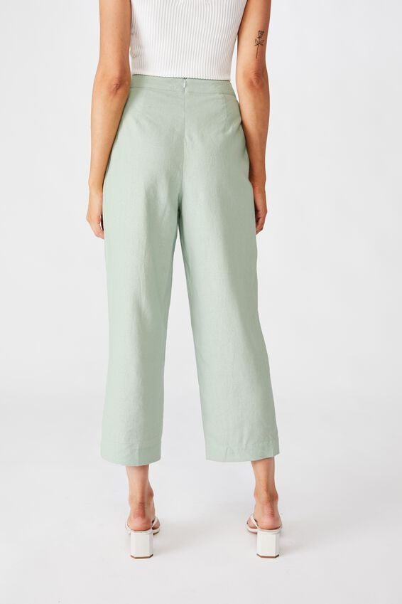 Parker Wide Leg Pant, MINTY GREEN