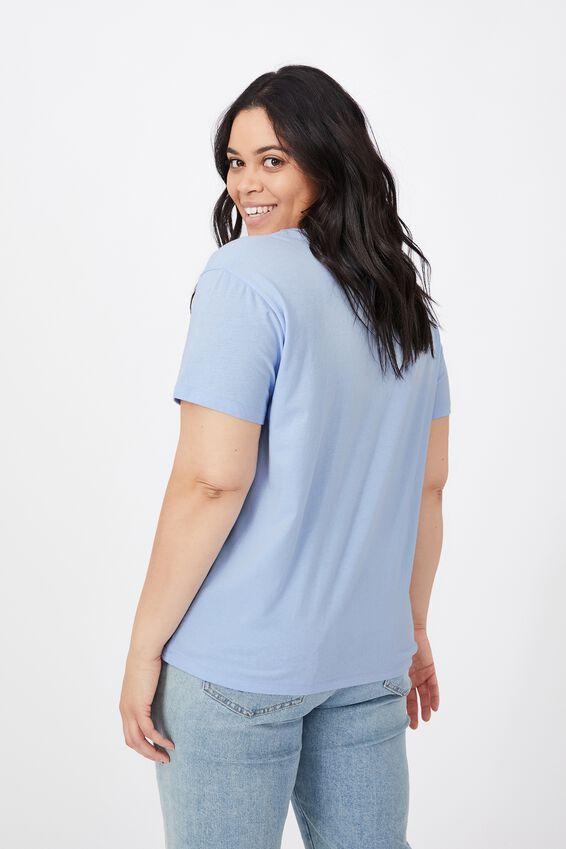 Lola Printed Longline T Shirt, BLUE PETAL/CALI SUN
