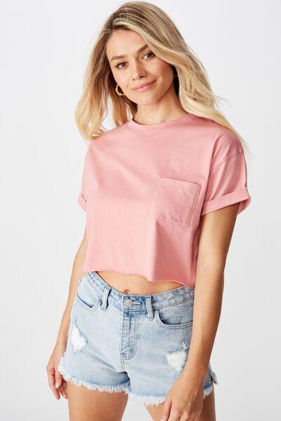 Ciara Crop T-Shirt, BALLERINA PINK