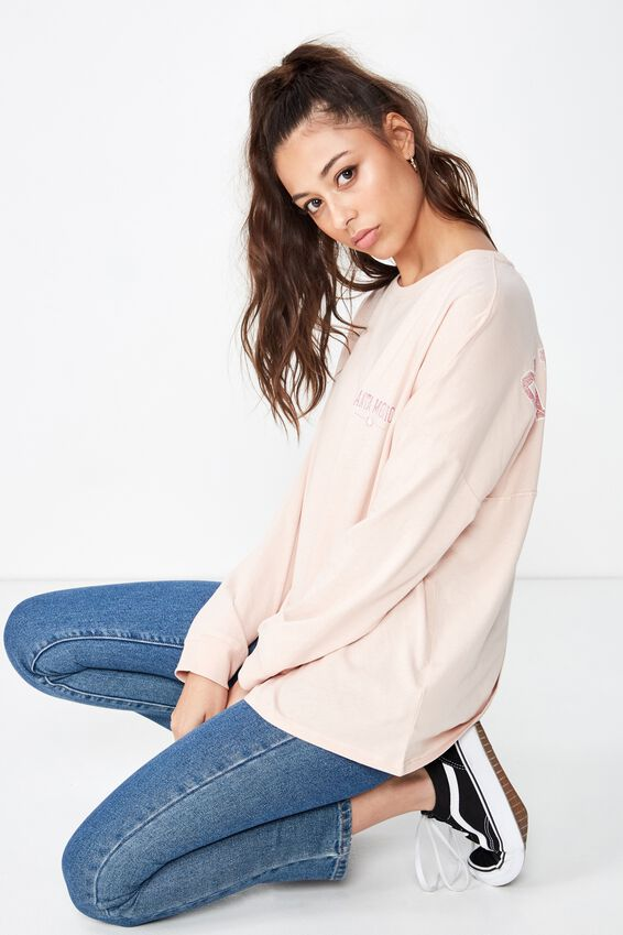 Barbados Long Sleeve Tee, DIVINE PINK/SANTA MONICA
