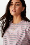 Tamara Graphic Crop Tee, DOUBLE STRIPE/NY SIMPLE FLAG