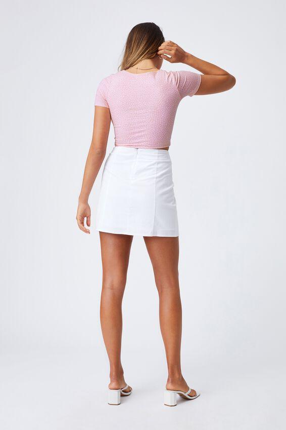 Lillian Wrap Short Sleeve Top, DELTA DAISY COOL PINK