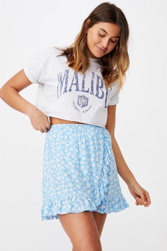 Alana Frill Wrap Skirt, HALLEY FLORAL BLUE