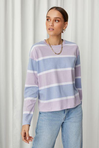 Talia Long Sleeve T Shirt, MANDY STRIPE (FAIRY LLC/AUR BL)