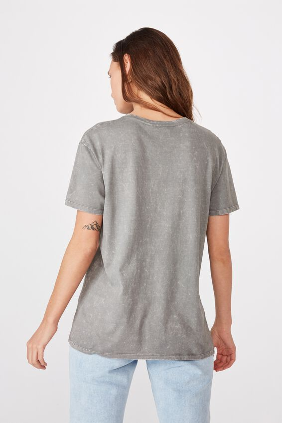 Kendall Printed T Shirt, WASHED CEMENT GREY LCN 90210