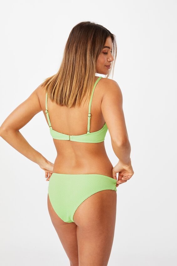 Orange County Full Bikini Bottom, SOFT LIME/ CRINKLE