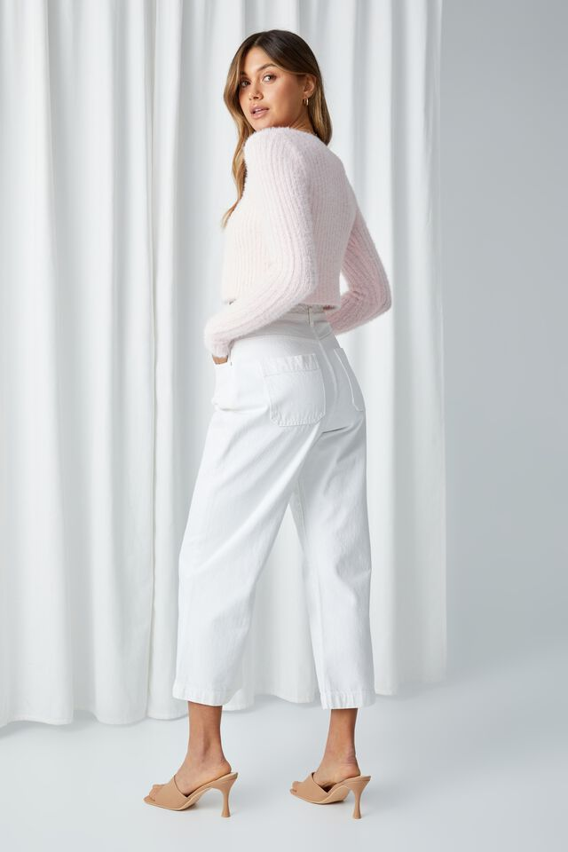 Adalyn Tie Front Knit Cardigan, PEARL BLUSH