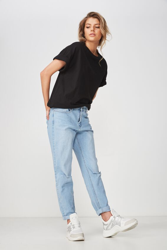 The Boyfriend Denim Jean, VINTAGE BLEACH