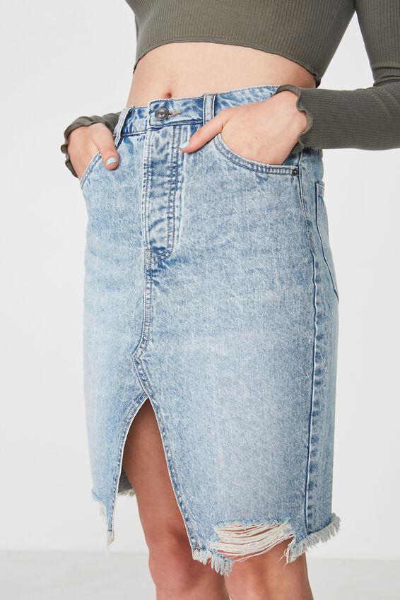 Vintage Denim Pencil Skirt, CLASSIC BLUE