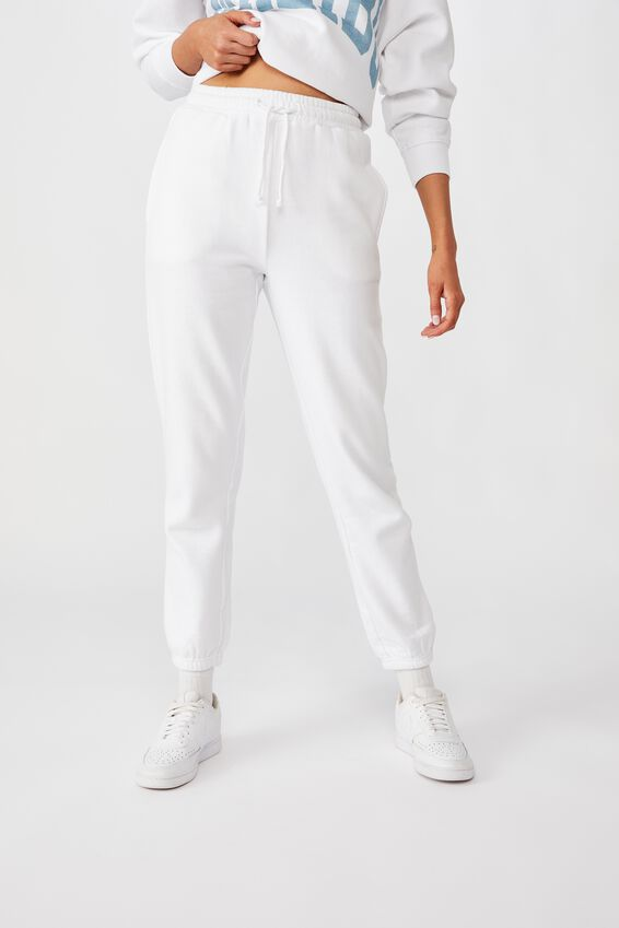 Classic Track Pants, WHITE