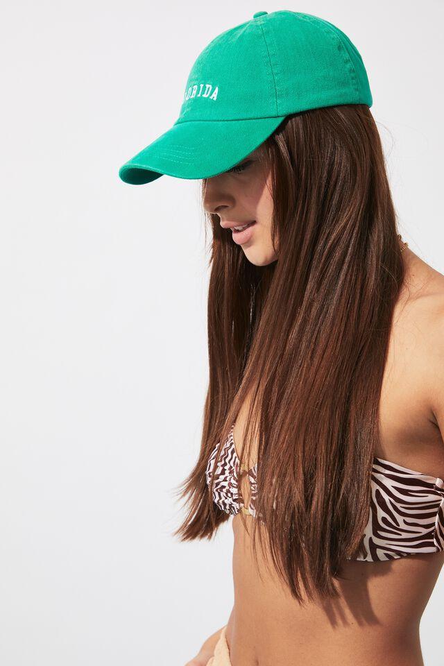 Emily Graphic Baseball Cap, TROPIC GREEN/FLORIDA