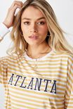 Atlanta Long Sleeve Tee, SUNFLOWER/WHITE STRIPE/ATLANTA COLLEGE