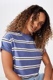 Ciara Crop Tee, ABBY STRIPE (JEAN BLUE/DIV PNK/BLK/WHT)