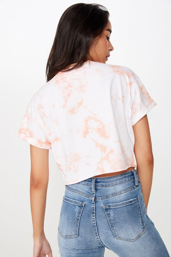 Tamara Graphic Crop Tee, PEACH BLUSH TIE DYE/HAMSA
