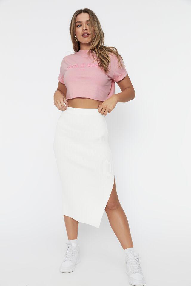 Tamara Printed Crop T Shirt, ROSEBLOOM/SANTA MONICA SAIL
