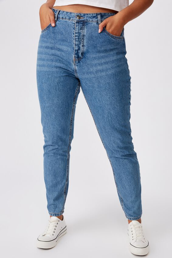 The Mom Denim Jean, PRETTY INDIGO