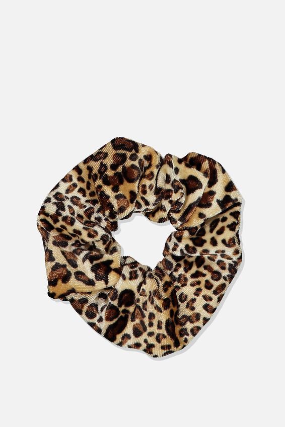 Plush Scrunchie, PLUSH ANIMAL PRINT