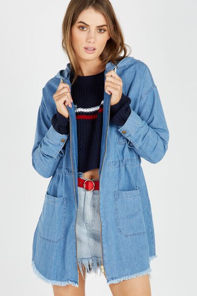 The Denim Anorak, MID BLUE