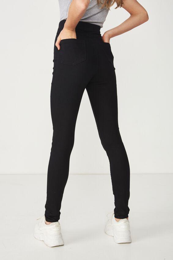 Long Super Skinny Sky High Jean, TRUE BLACK